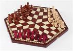 Large Three Way Wooden Chess Set Three Way Wooden Chess Sets