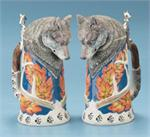 Wolf Stein Wildlife Steins