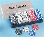Jack Daniel's 100 Piece Clay Poker Chip Set Jack Daniels Poker and Chess Sets
