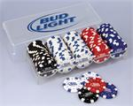 Anheuser Busch Bud Light Poker Set Anheuser Busch Poker and Chess Sets