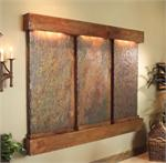 Deep Creek Falls Collection Rustic Copper Wall Fountains