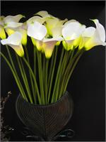 White Calla Lily 8 Lights Calla Lily Lighted Branches