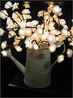Cream Mini Rose 60 Lights Rose Lights