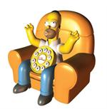 Homer Simpson Animated Phone Collectible Antique Telephones