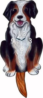 American Bernese Dog Clock with Wagging Tail Wagging Tail Dog Clocks