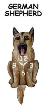 German Sheperd Dog Clock With Moving Tail